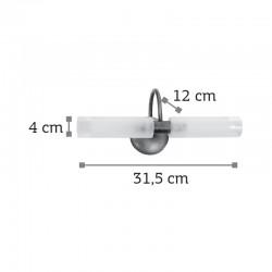 InLight Επιτοίχιο φωτιστικό από χρώμιο μέταλλο και αμμοβολή γυαλί (1041-Χρώμιο)