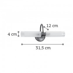 InLight Επιτοίχιο φωτιστικό από οξυντέ μέταλλο και αμμοβολή γυαλί (1041-Οξυντέ)