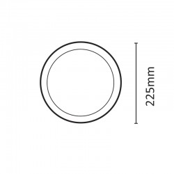 InLight LED Slim Panel 20watt Στρογγυλό 4000Κ Φυσικό Λευκό (2.20.02.2)