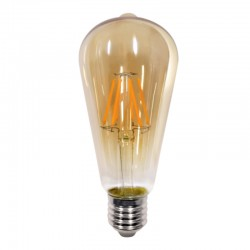 InLight E27 LED Filament ST64 8watt Dimmable με μελί κάλυμμα (7.27.08.24.1)