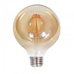 InLight E27 LED Filament G95 8watt Dimmable με μελί κάλυμμα (7.27.08.25.1)