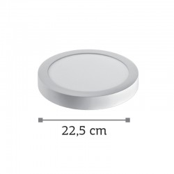InLight LED Mounted Panel 20watt Στρογγυλό 3000Κ Θερμό Λευκό (2.20.04.1)