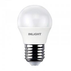 InLight E27 LED G45 7watt 4000Κ Φυσικό Λευκό (7.27.07.12.2)