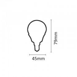 InLight E14 LED G45 7watt 4000K Φυσικό Λευκό (7.14.07.14.2)
