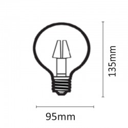 InLight E27 LED Filament G95 12watt Φυσικό Λευκό (7.27.08.21.2)