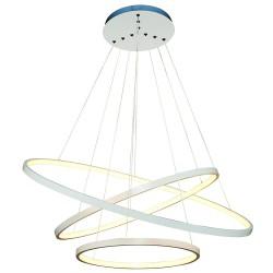 Κρεμαστό πολύφωτο φωτιστικό Exclusive Collection με 2+1 λευκούς δακτυλίους (LED)