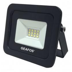 Προβολέας LED 10W SMD 6400K Slim Μαύρος